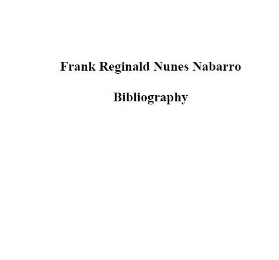 Nabarro, Frank Reginald Nunes - 1916 - I1074